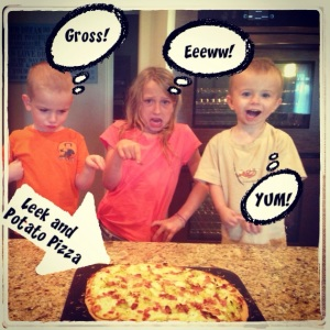 potatoe and leek pizza homemade picky kids how to eat healthy with kids