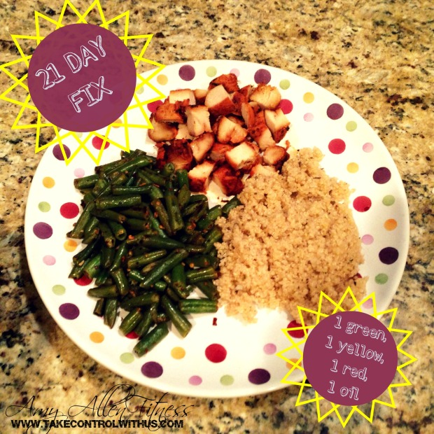 21 day fix you dont have to starve portion control sample plate