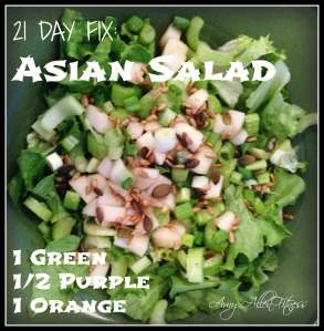21day fix asian salad with vinagrette 21 day