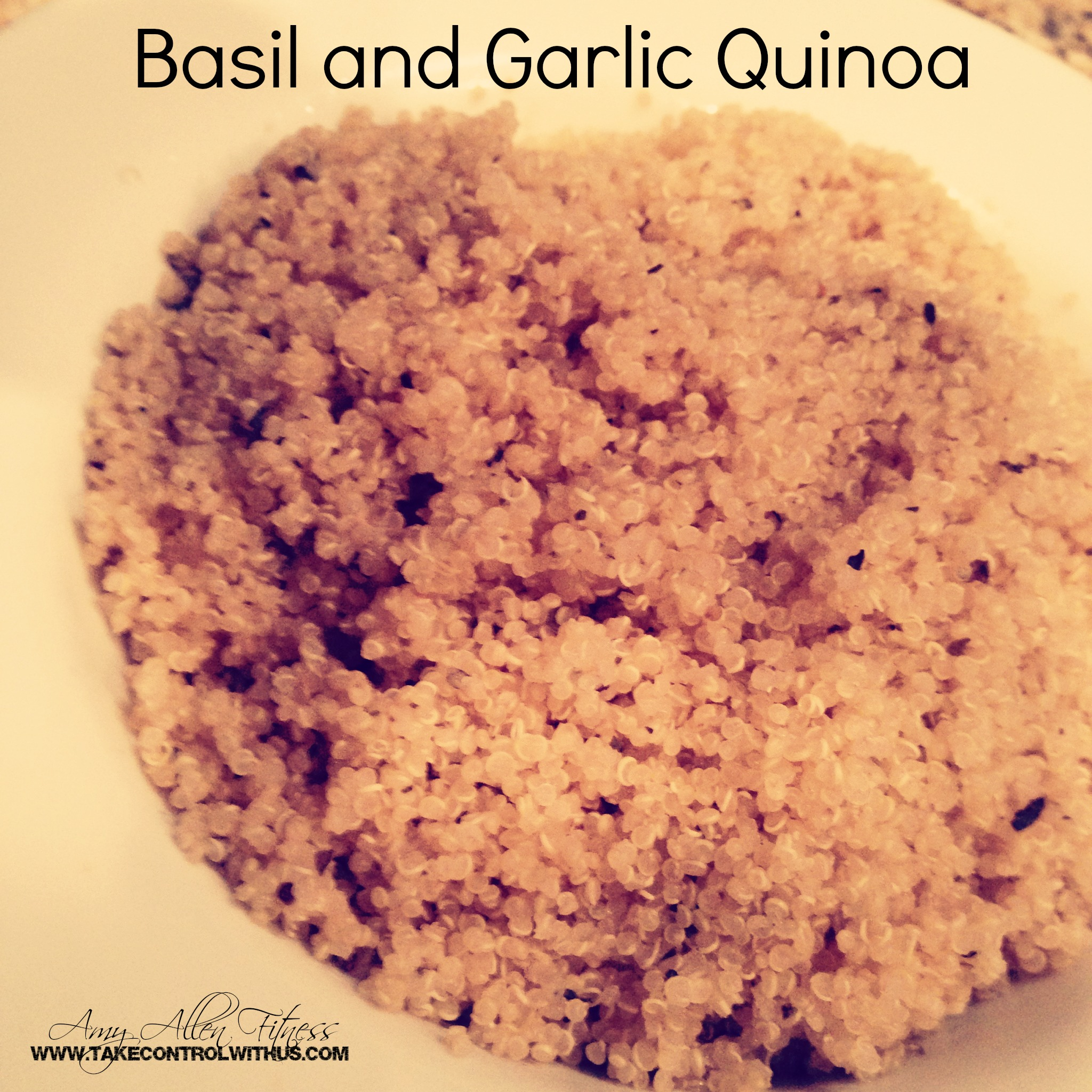 Garlic and Basil Quinoa (makes 8 1/2 cup servings)