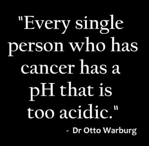 cancer alkaline state cant survive otto warlburg
