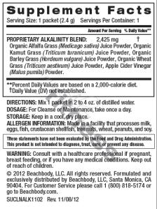alkalinize supplement info ingredients