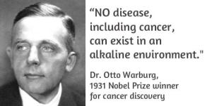 otto warburg alkaline environment cancer treatment