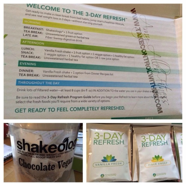 3 day refresh meal plan