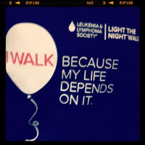 light the night survivor lls tnt tshirt i walk