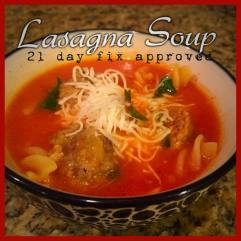 lasagna soup meatballs clean eating 21 day fix 21dayfix recipes meal plan amy allen fitness health approved